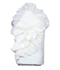 Конверт на выписку из роддома летом Красотка белый