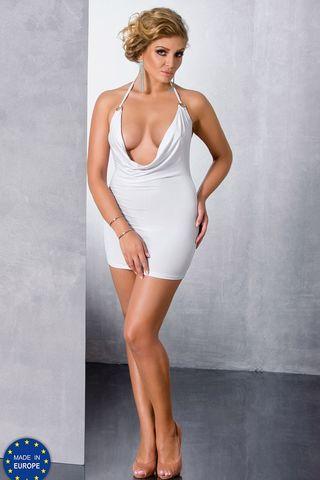 Белое мини-платье Miracle