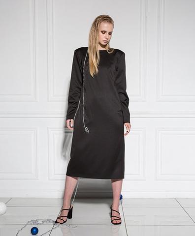 Платье-фрак с рукавами