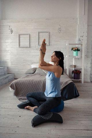 Подушка для медитации джинсовый