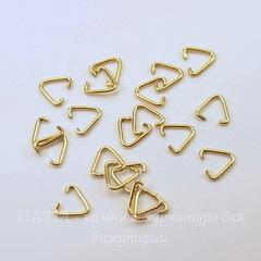 Держатель подвески - скоба 9 мм (цвет - античное золото), 20 штук