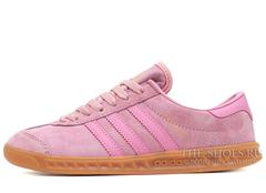 Кроссовки Женские Adidas Hamburg Suede Pink
