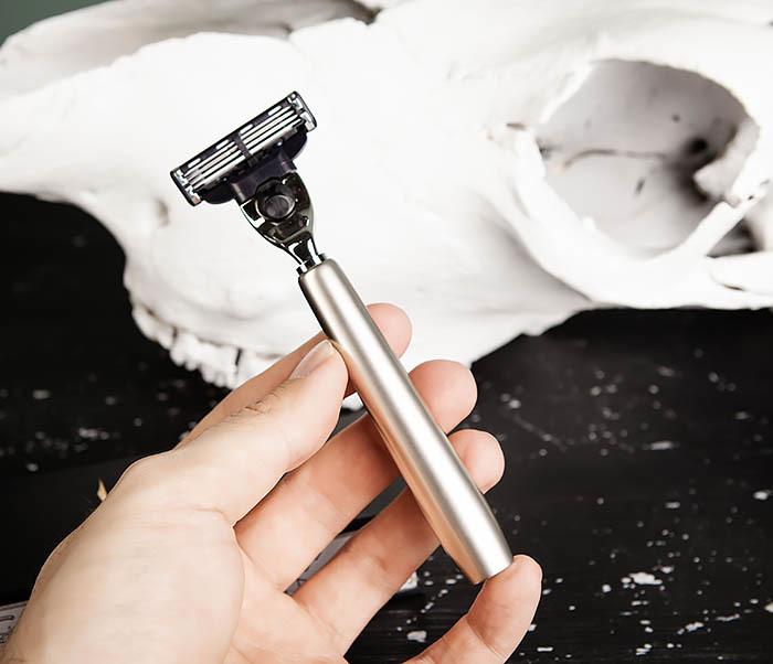 RAZ474 Металлический станок для бритья с кассетой GILLETTE МАСН3 в коробке фото 08
