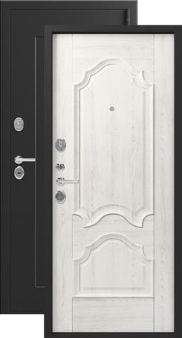 Дверь входная Легион L-6, 2 замка, 1,5 мм  металл, (чёрный шёлк+монблан)
