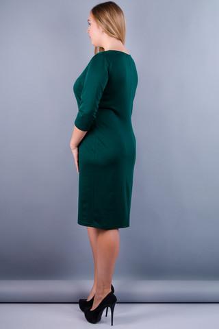 Аріна француз. Сукня великих розмірів. Смарагд.