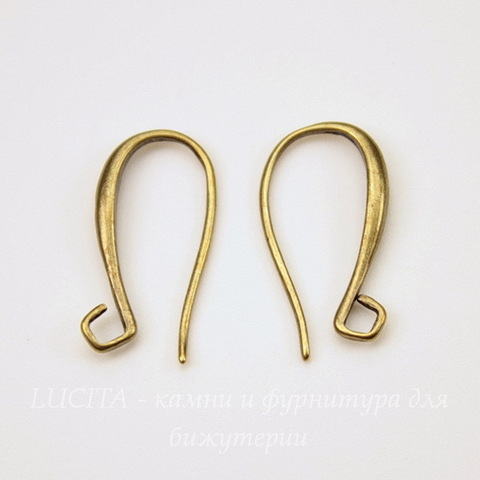 Швензы - крючки, 20х11 мм (цвет - бронза), пара