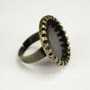 Основа для кольца с сеттингом с круглым краем для кабошона 20 мм (цвет - античная бронза)