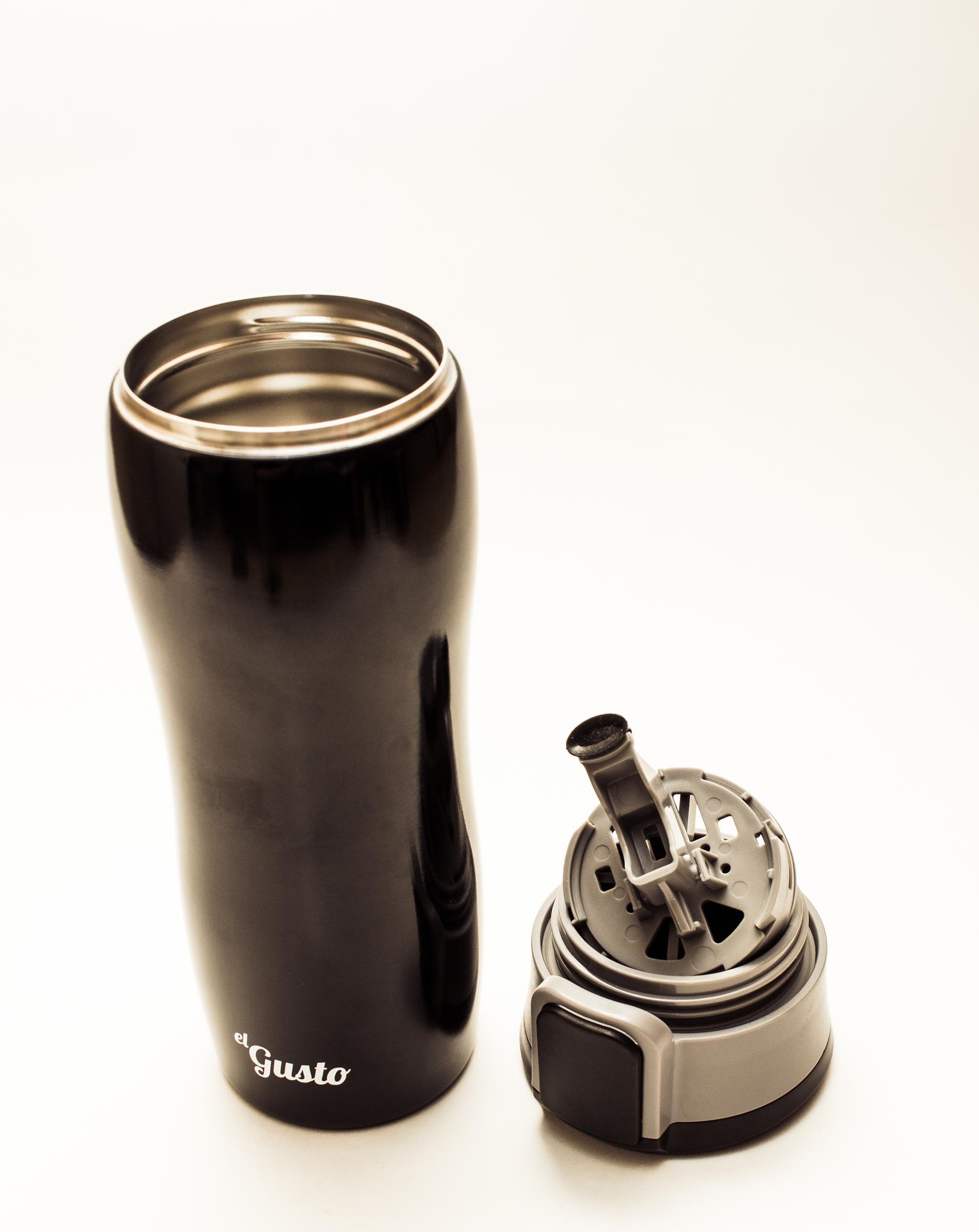 Термокружка Corsa 470 мл, черная - 4