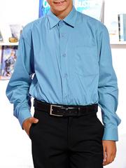 66-15 рубашка для мальчиков, голубая