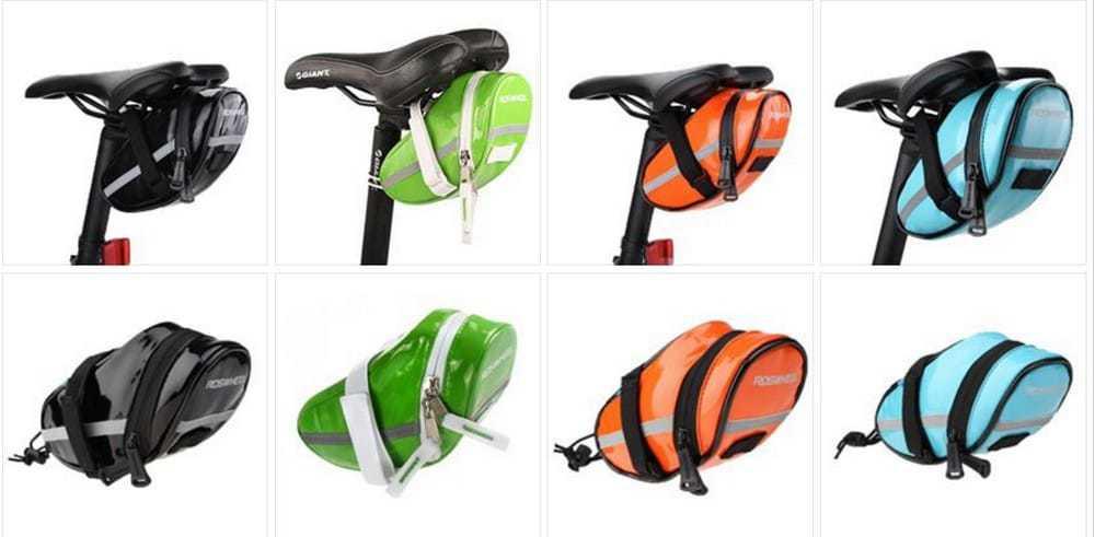 Цвета и крепление велосипедной сумки под седло Roswheel (13660-H)