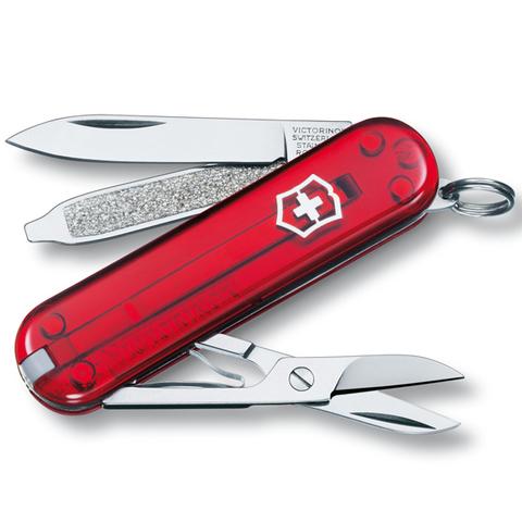 Нож Victorinox Classic красный полупрозрачный 0.6223.T