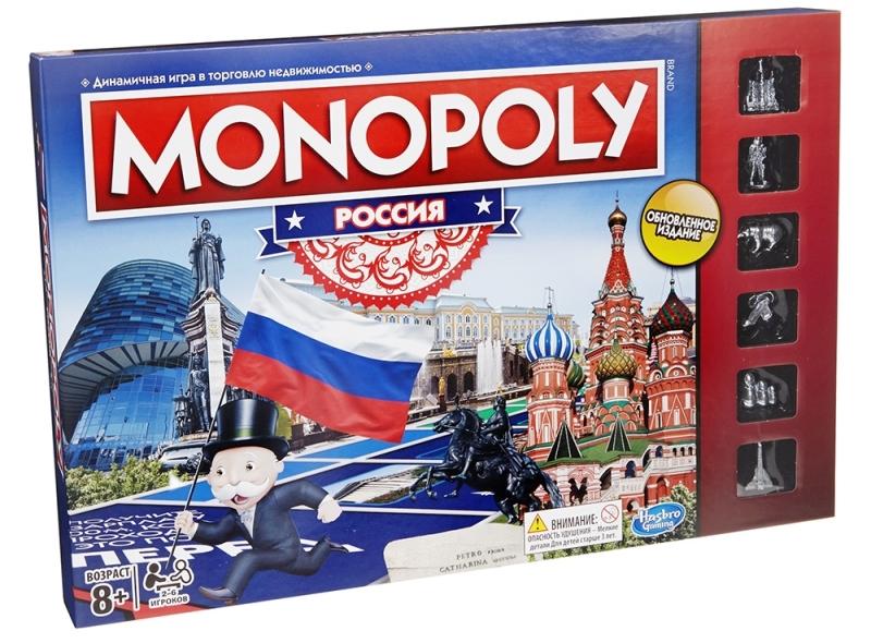 Настольная игра Монополия Россия новая уникальная версия Hasbro