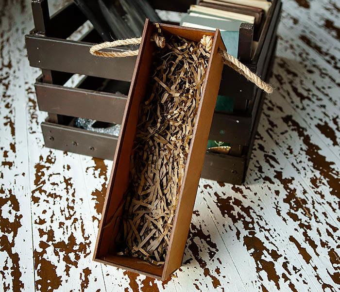 BOX241 Деревянная коробка для шампанского (33*10*10,5 см) фото 05