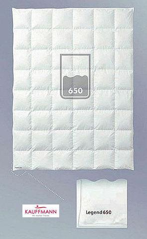 Одеяло пуховое всесезонное 220х240 Kauffmann Legend 650