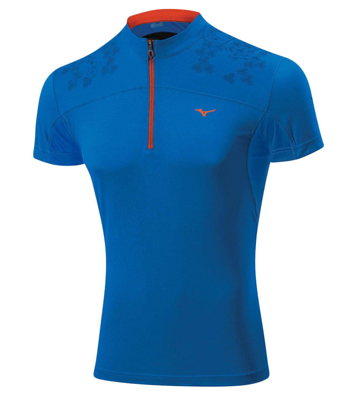 Мужская беговая футболка Mizuno DryLite Hex Tee (J2GA4007 23) синяя