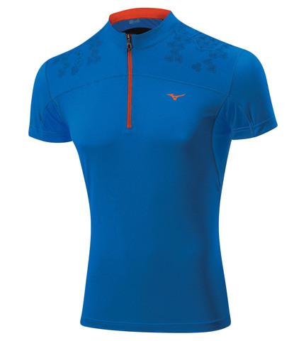 Беговая футболка Mizuno DryLite Hex Tee мужская синяя