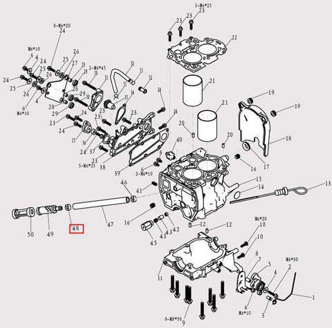 Хомут для лодочного мотора F9.8 Sea-PRO (3-48)
