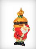 Санта с мешком музыкальная шкатулка сувенир