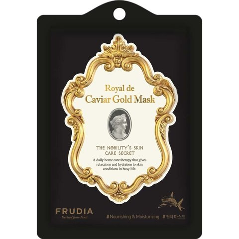 Омолаживающая маска с экстрактом икры и золотом Frudia Royal de Caviar Gold Mask