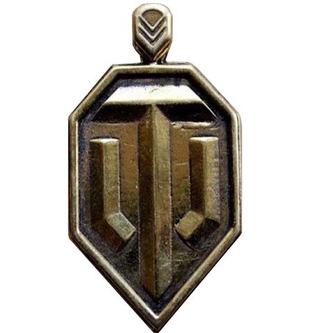 Оригинальный мужской кулон из натуральной бронзы Word of Tanks (WOT) отечественного производста RH00961