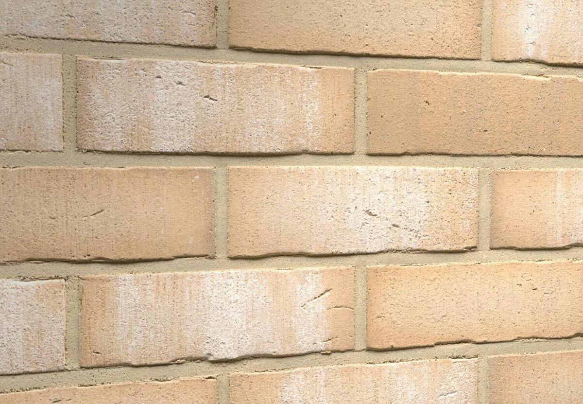 Клинкерная плитка под кирпич Feldhaus Klinker, VASCU, поверхность Wasserstrich, crema bora, R730NF14