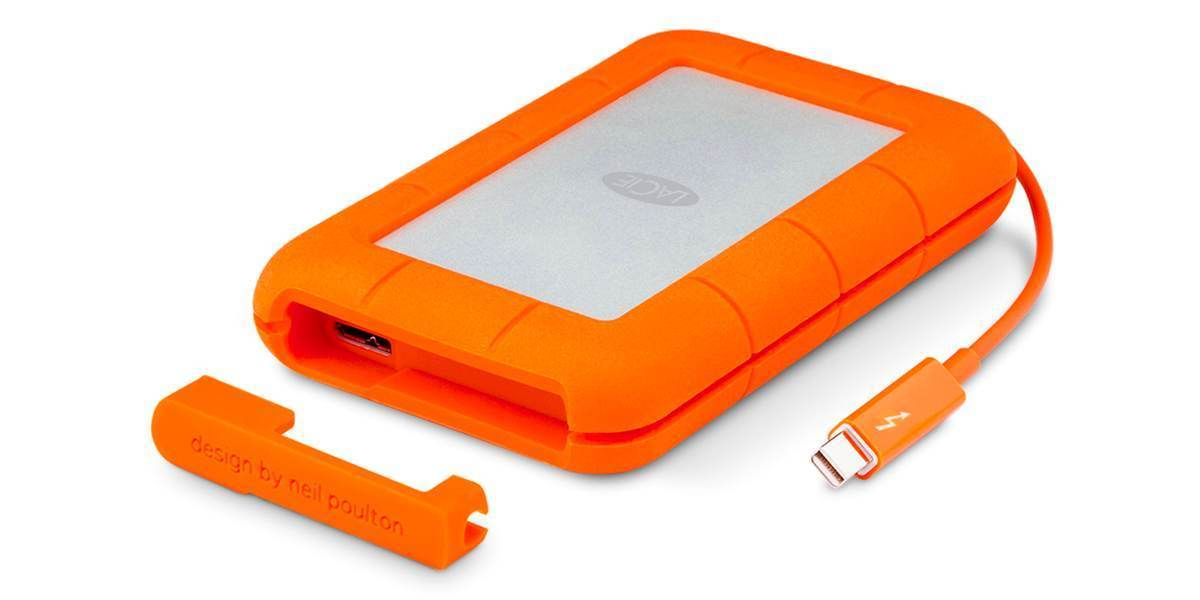 "Внешний жесткий диск 1TB LaCie Rugged Mini USB-C 2,5"" открыта крышка"