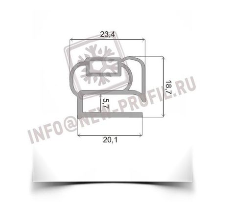 Уплотнитель 76*55см для морозильной двери Бирюса 4. Профиль _014