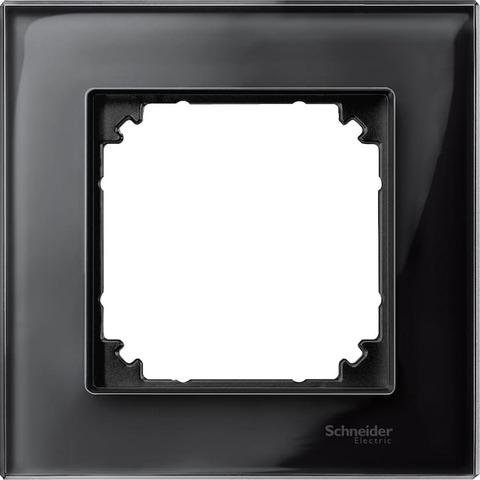 Рамка на 1 пост. Цвет Чёрный оникс. Merten. M-Elegance System M. MTN404103