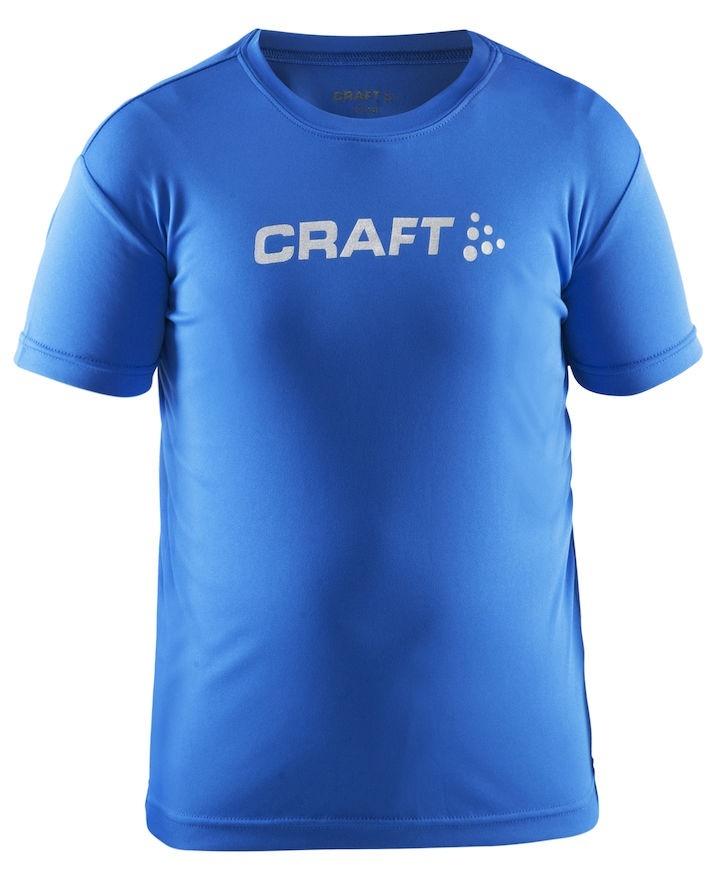 Детская футболка для бега Craft Active Run Logo (1903256-1314) голубая