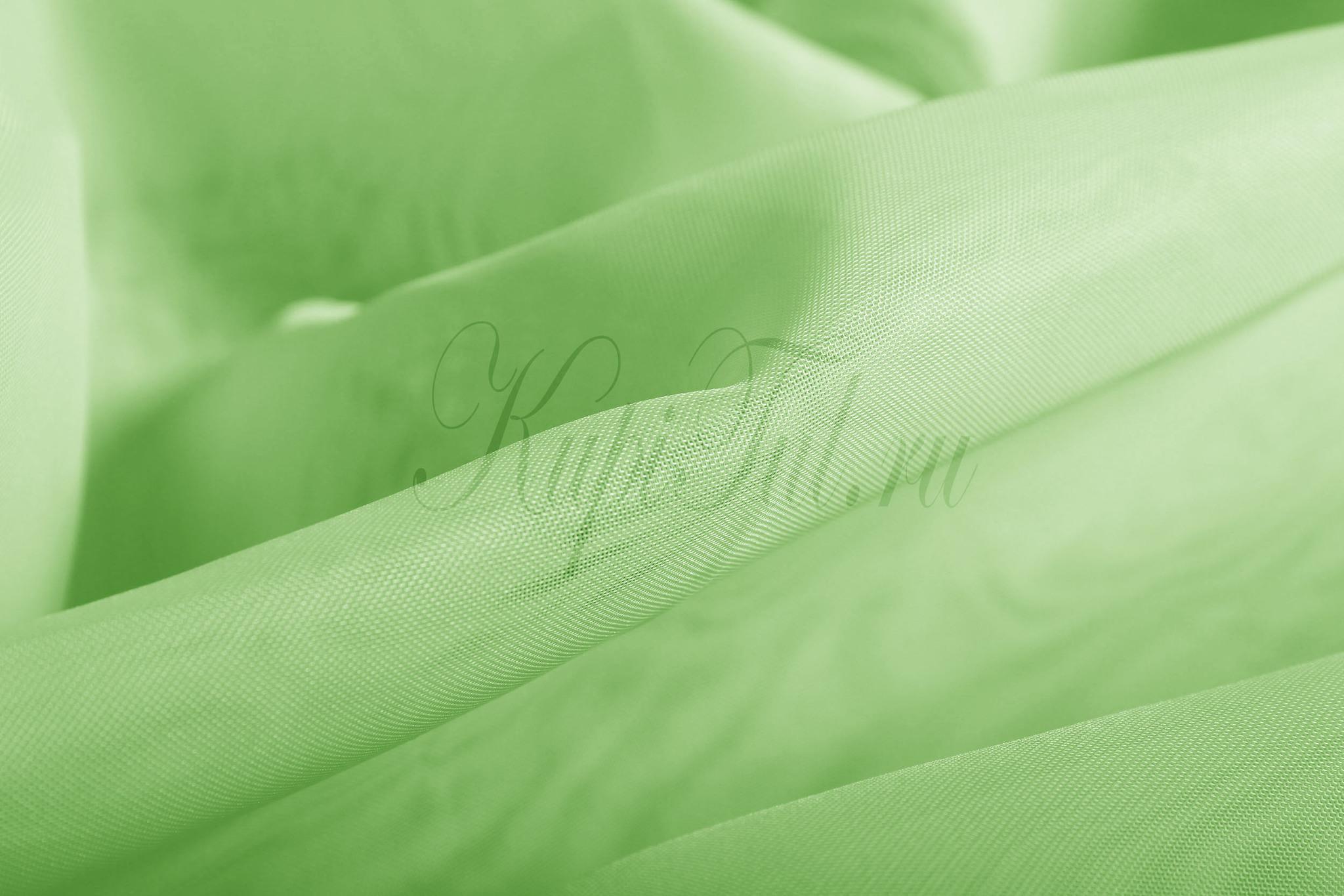 Штора. Тюль Basica (микровуаль зеленый)