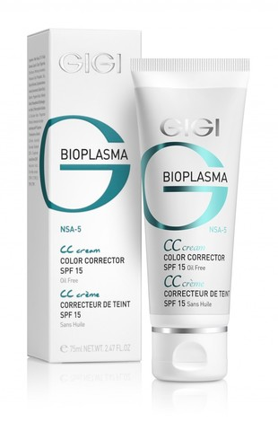 Gigi Bioplasma Cream CC, Крем для коррекции цвета кожи с SPF 15, 75 мл.