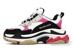 Кроссовки женские Balenciaga Triple S White Pink Black