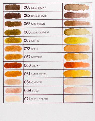 Маркер акварельный ZIG Clean Color Real Brush- штучно -Light Brown - 061