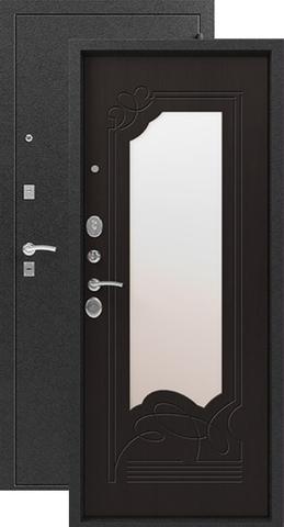 Дверь входная Сибирь S-4, 2 замка, 1,5 мм  металл, (чёрный муар+венге)