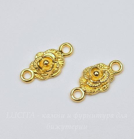 """Коннектор """"Роза"""" (1-1) 18х9 мм (цвет - золото), ПАРА"""