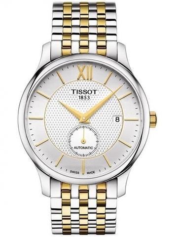 Купить Мужские швейцарские часы Tissot Tradition Automatic Small Second T063.428.22.038.00 по доступной цене