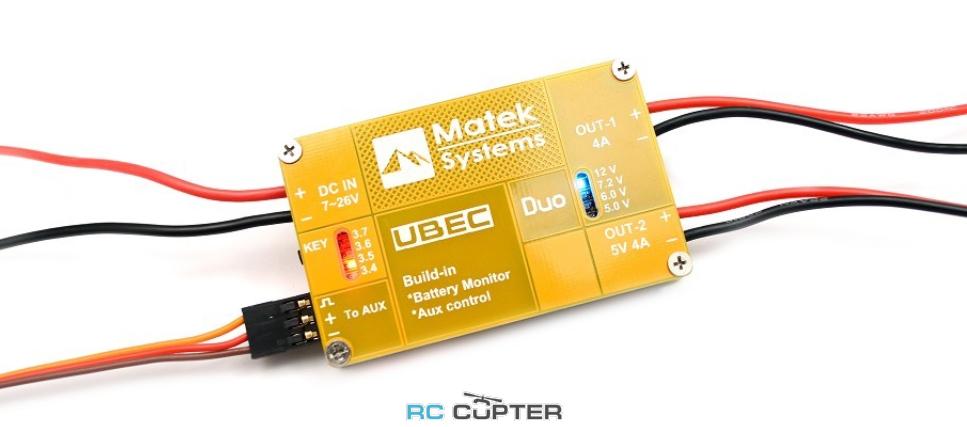Стабилизатор напряжения Matek UBEC DUO 4A 5-12V; 4A 5V