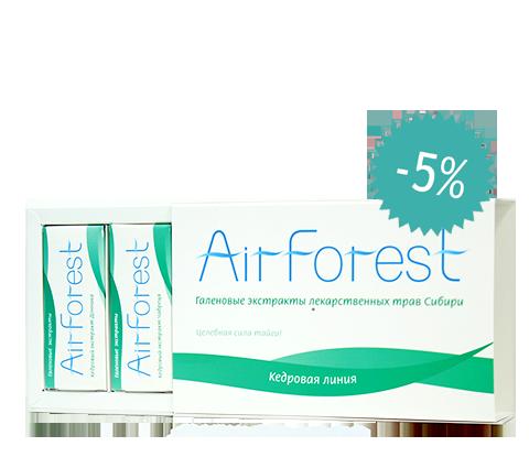 Набор из 4-х видов экстрактов AirForest (на основе эфирного масла сосны сибирской кедровой)