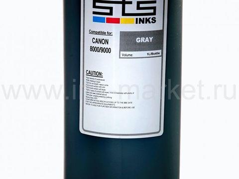 Пигментные чернила STS для Canon iPF5000, iPF5100, iPF6000, PF6100, iPF6200, iPF6300, PF6350, iPF6400, iPF6300, iPF6350, iPF8000, iPF8100 gray (1000 мл)
