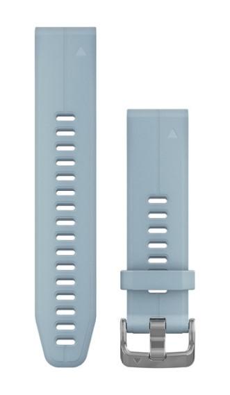Силиконовый ремешок Garmin QuickFit 20 мм голубой