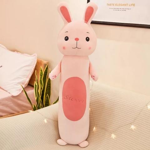 Подушка заяц розовый с лапками 90 см