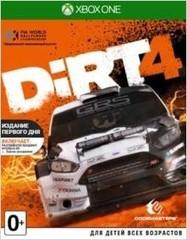 Xbox One DiRT 4. Издание первого дня (английская версия)