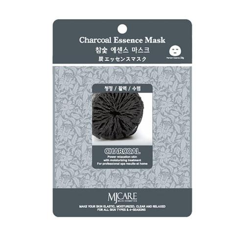 Тканевая маска для лица древесный уголь MIJIN Care Mask