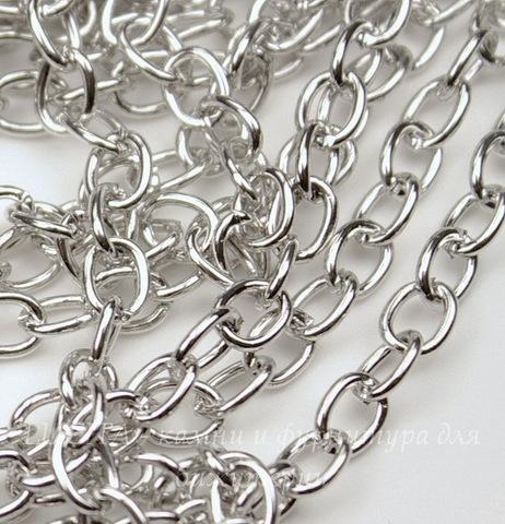 Цепь (цвет - античное серебро) 7х5 мм, примерно 10 м