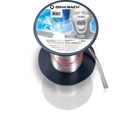 Oehlbach Silver SP15 2x1,5mm clear 10m, кабель акустический