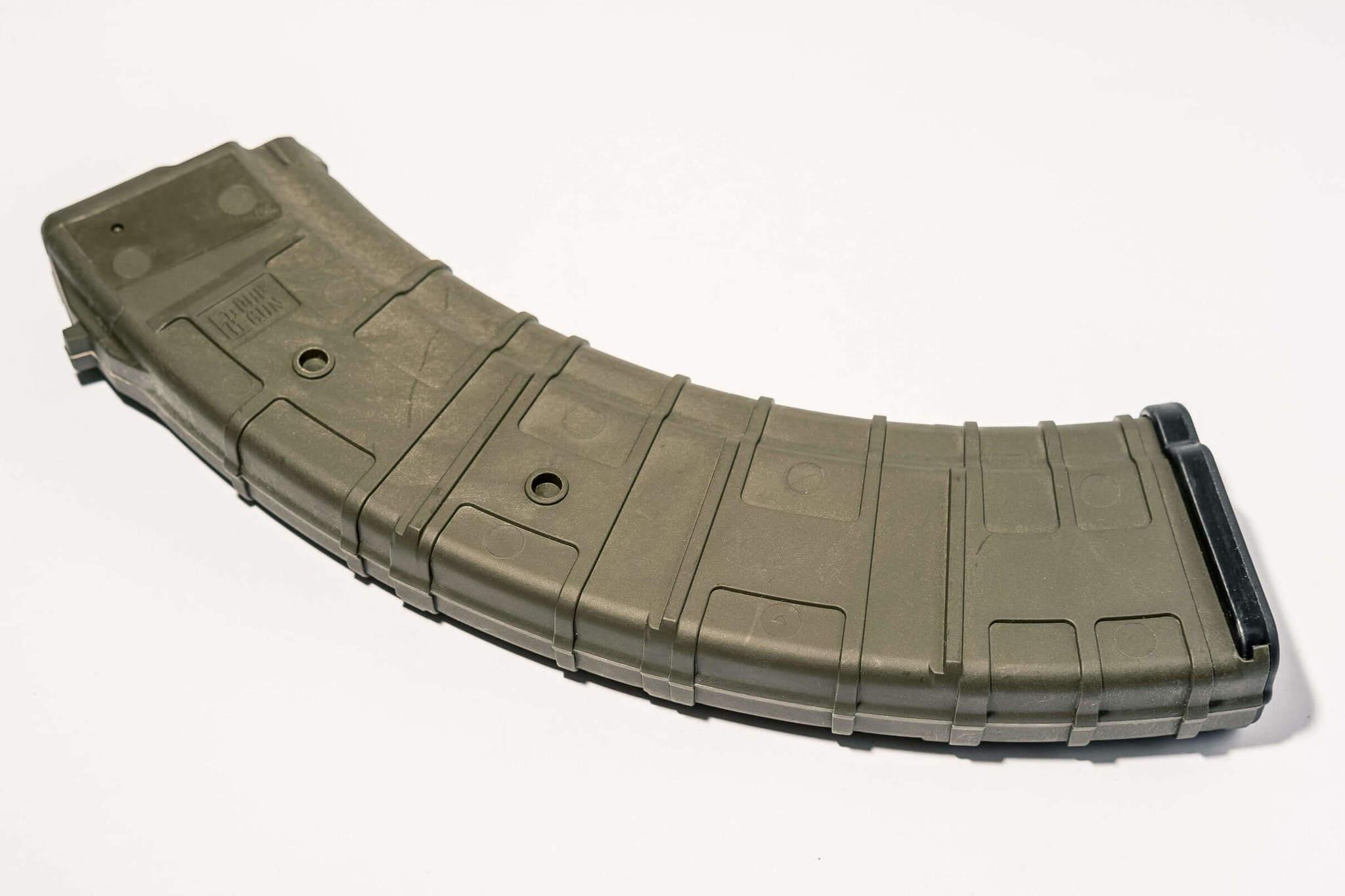 Магазин Pufgun для АКМ (7.62x39) ВПО-136 ВПО-209 на 40 Gen2, Хаки