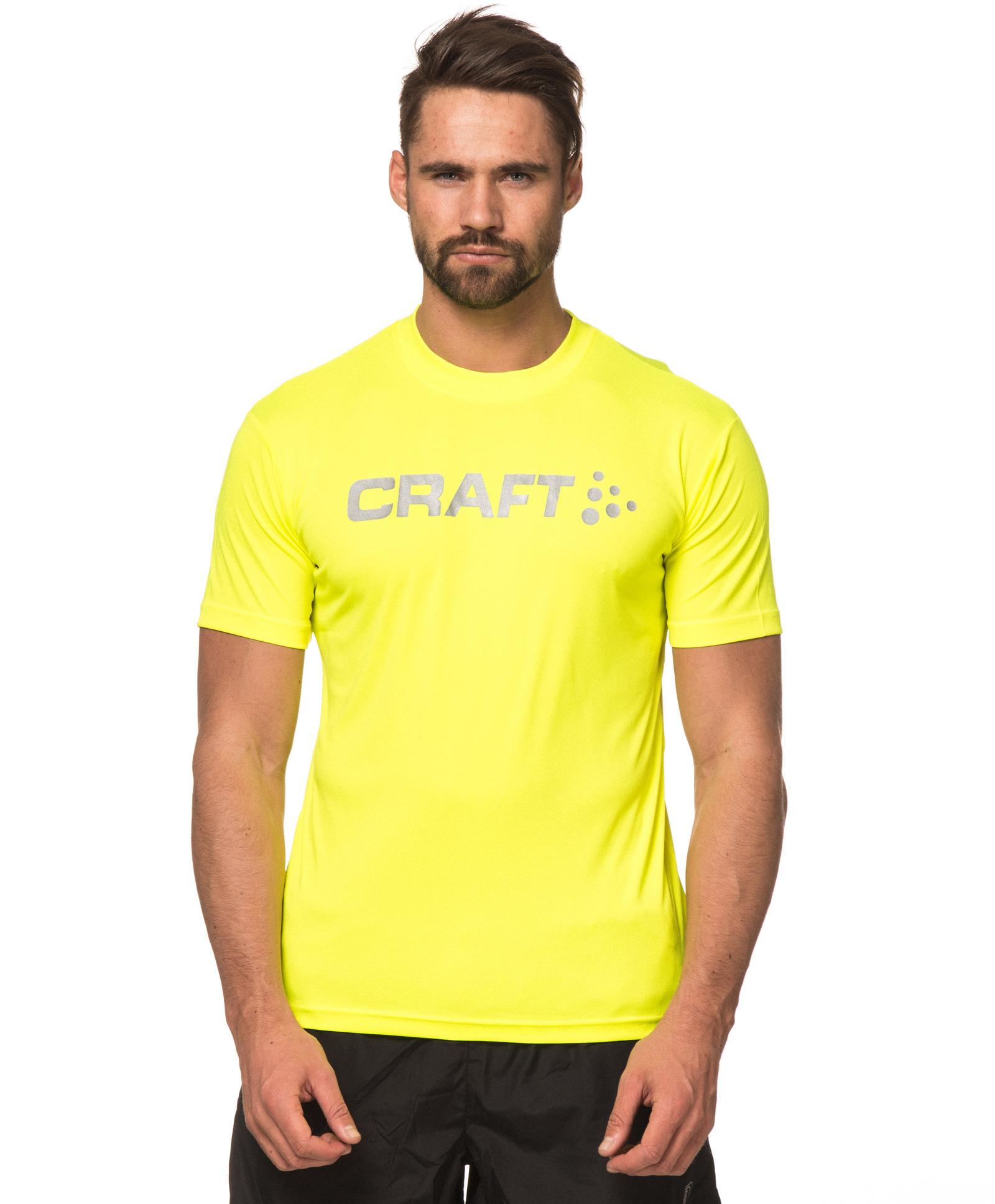 Мужская футболка для бега Craft Active Run (198921-1553) желтая