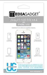 Пленка защитная для iPhone 5 / 5S MediaGadget PREMIUM ПРОЗРАЧНАЯ ГЛЯНЦЕВАЯ ДВУСТОРОННЯЯ
