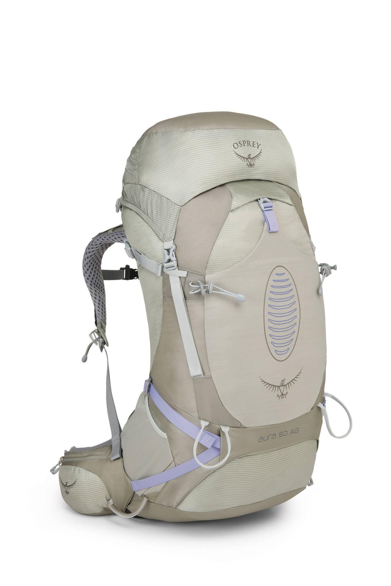 Туристические рюкзаки Рюкзак туристический женский Osprey Aura AG 50 Aura_AG_50_Side_Sliver_Streak_web.jpg