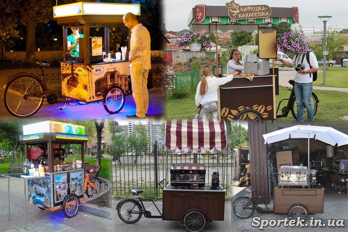 Варианты использования трехколесного велосипеда 'Кофейный'